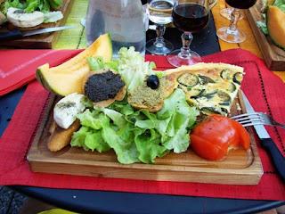 salad, Balazuk, French Ardeche region, medieval