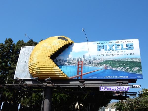 Pixels 3D Pac-Man billboard
