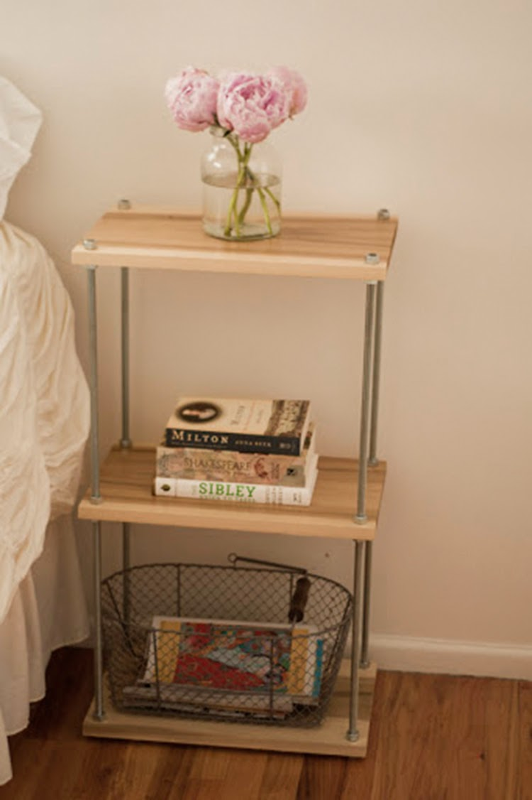 diy monday side tables ohoh blog. Black Bedroom Furniture Sets. Home Design Ideas