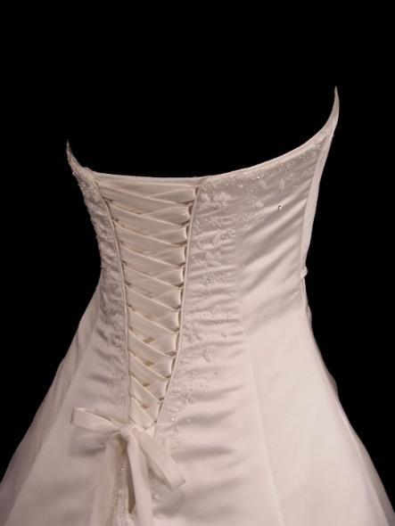 how to add a corset back to a dress