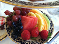 VeegMama's fruit plate at tea at Tiffin at The Langham