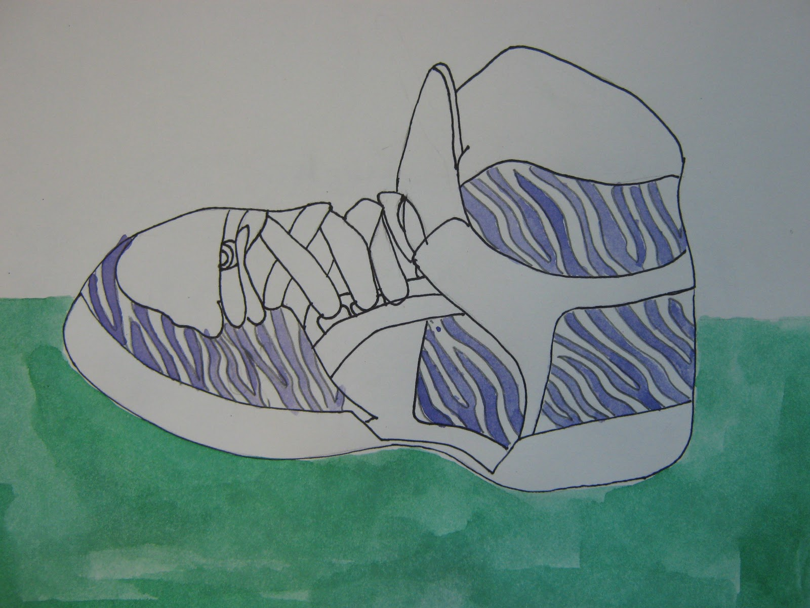 Contour Line Drawing Shoes Lesson Plan : Art in the middle school: december 2011