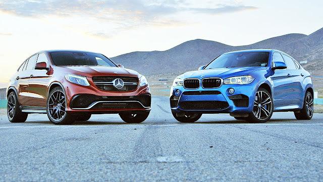 شاهد المنافسة القوية بين مرسيدس GLE AMG ضد BMW X6M