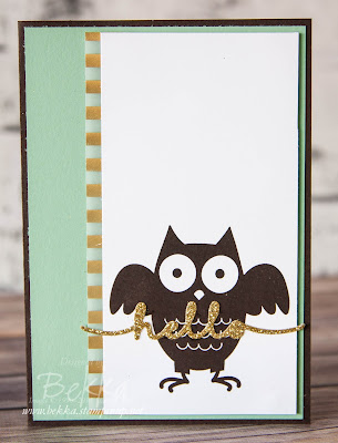 Howl-O-Ween Hello Card using Stampin' Up! UK Supplies