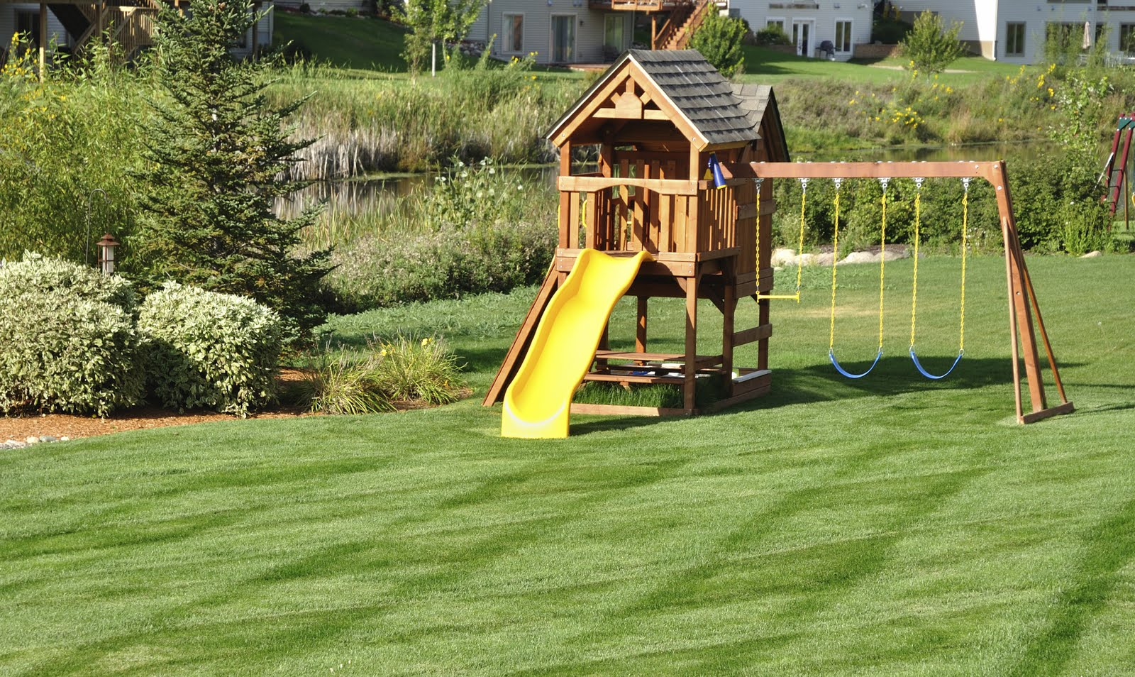 safety in backyard playgrounds is obviously just as necessary as at
