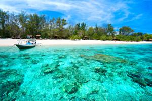 Wisata alam Pantai Gili Trawangan, Gili Meno dan Gili Air Lombok