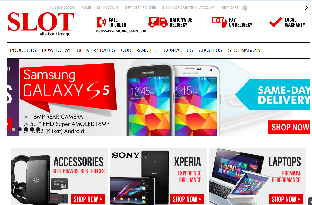 Slot website for phones