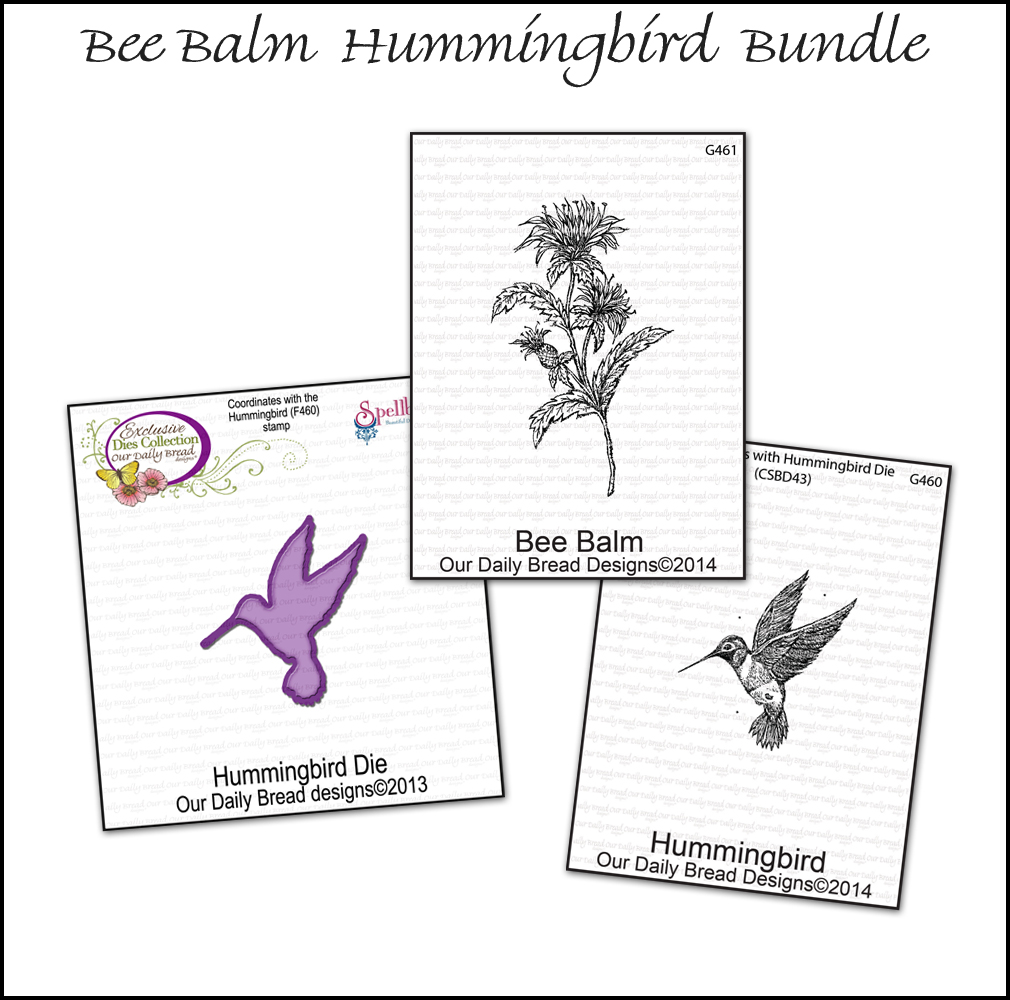 Stamps - Our Daily Bread Designs March 2014 Bee Balm Hummingbird Bundle
