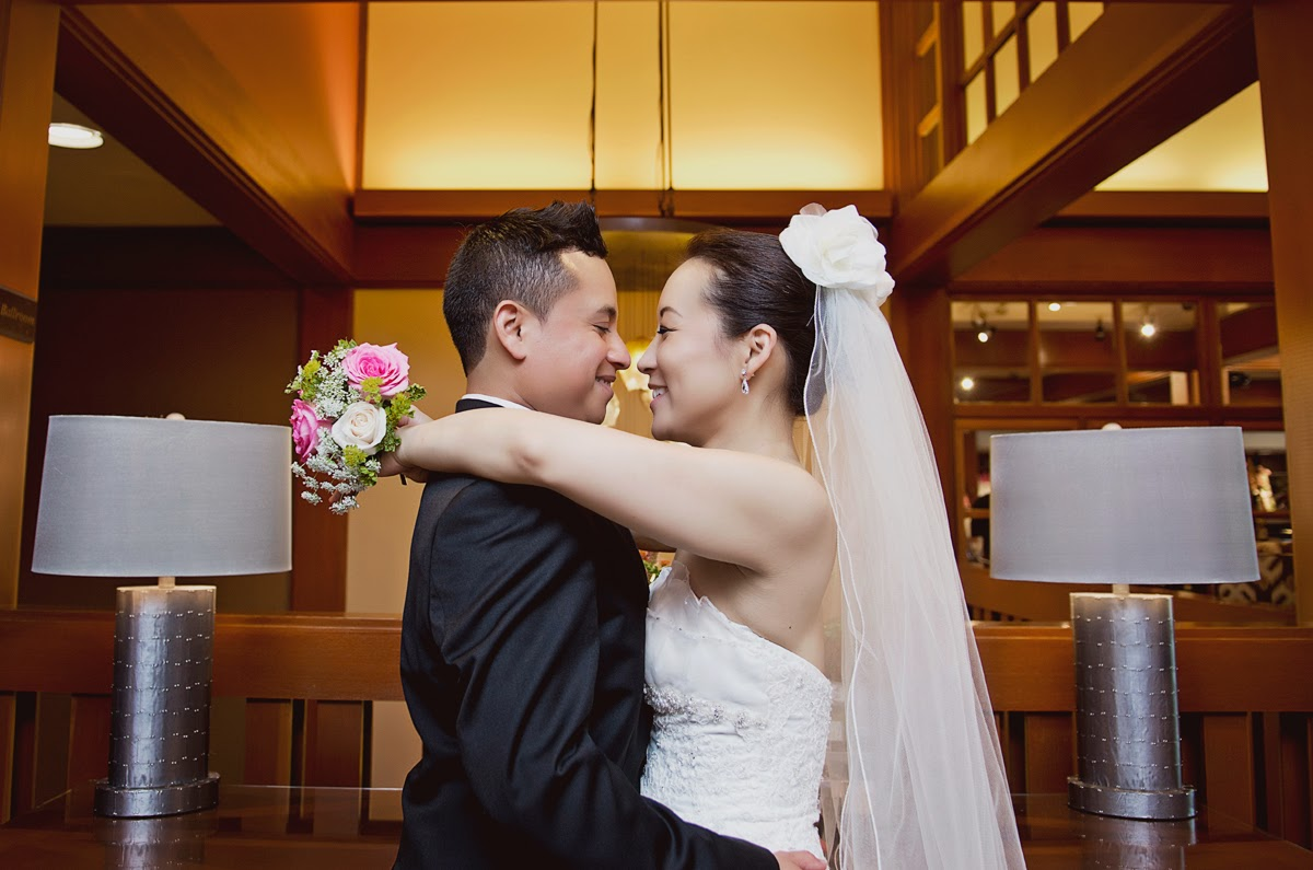 Luis and Miki - wedding photo - Salsh Lodge & Spa - Kent Buttars, Seattle Wedding Officiant