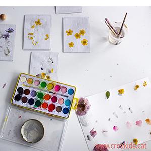 CreaKids: Acuarelas y flores