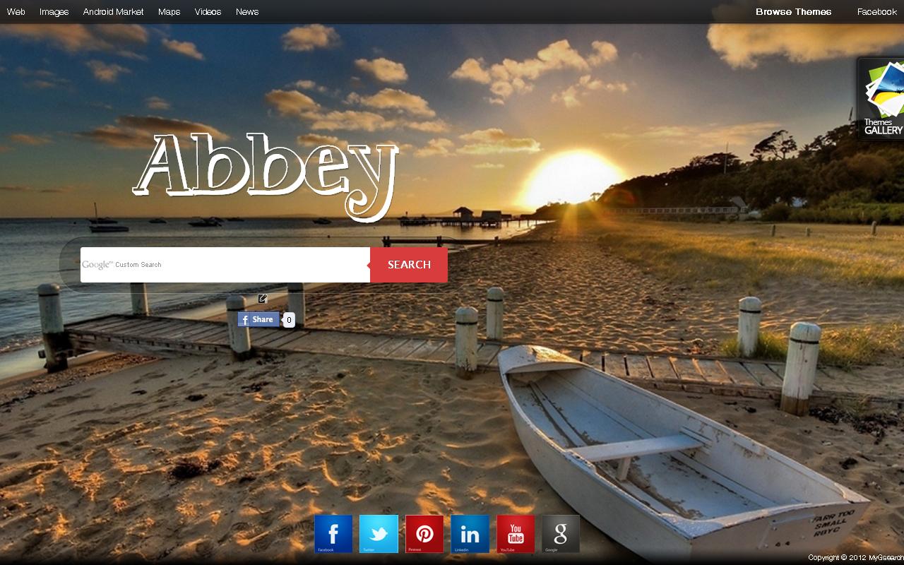 Google homepage themes gallery - Beautiful Beach Evening Mood