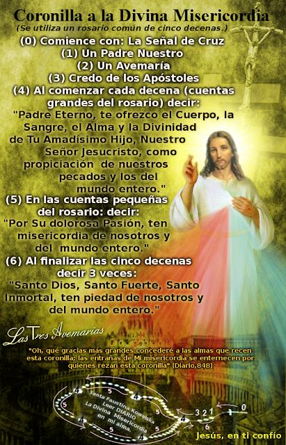 como resar el rosario a la divina misericordia