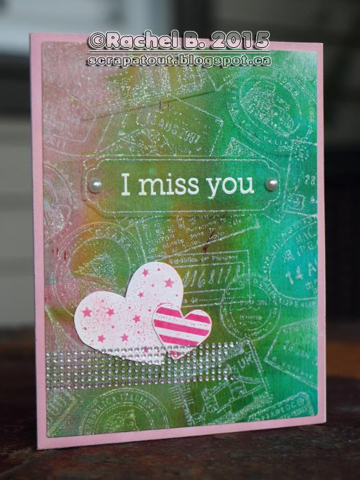 Handmade card, Hero Arts, Sizzix, Postage