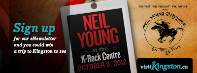 kingston, ontario, hotels, contests. neil young, concerts