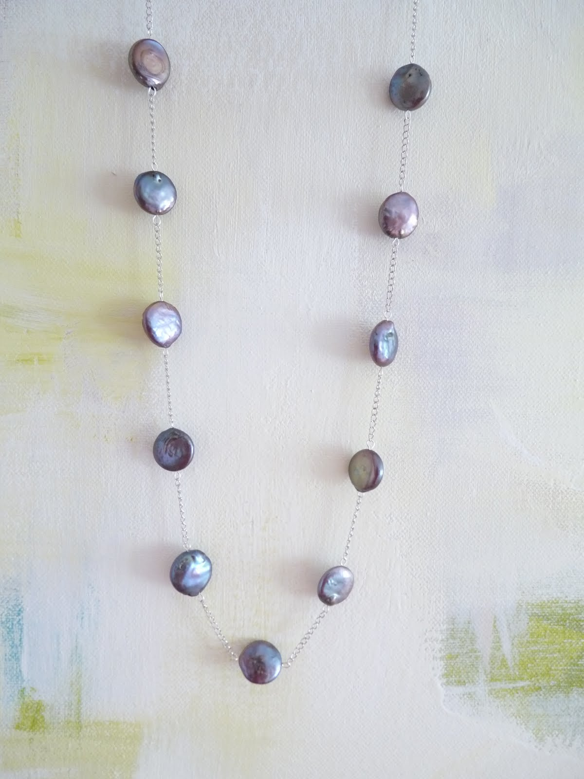 DIY Chain and Pearl Bead Necklace