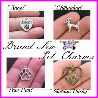 Add these pet charms to a jewelry item of choice