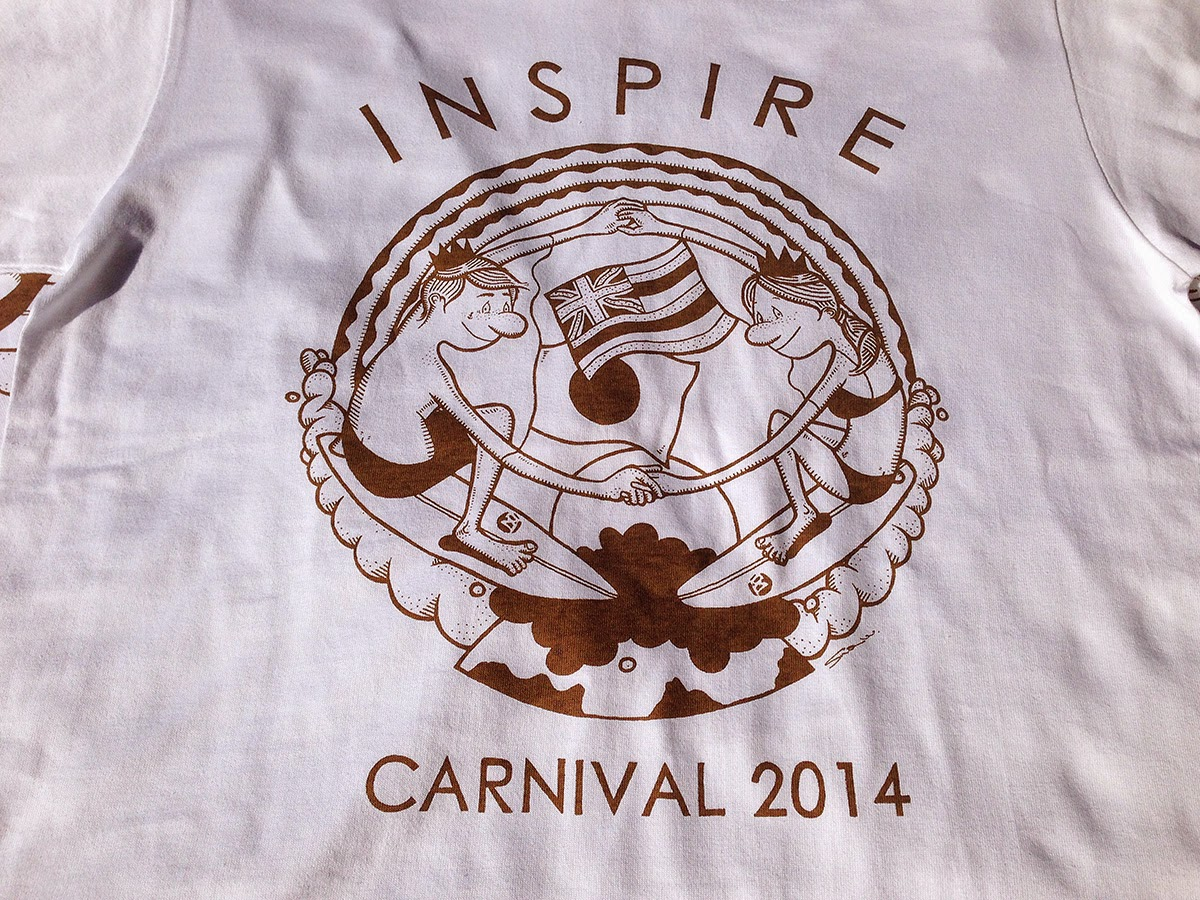 INSPIRE CARNIVAL 2014 Tシャツプリントご依頼頂きました