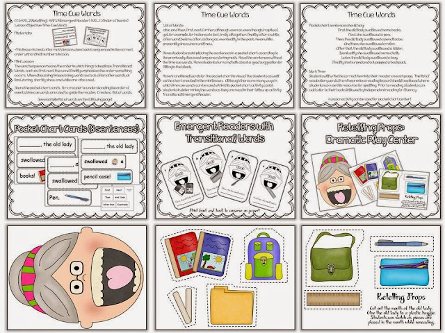 http://www.teacherspayteachers.com/Product/There-Was-An-Old-Lady-Who-Swallowed-Books-Sub-Tub-398588