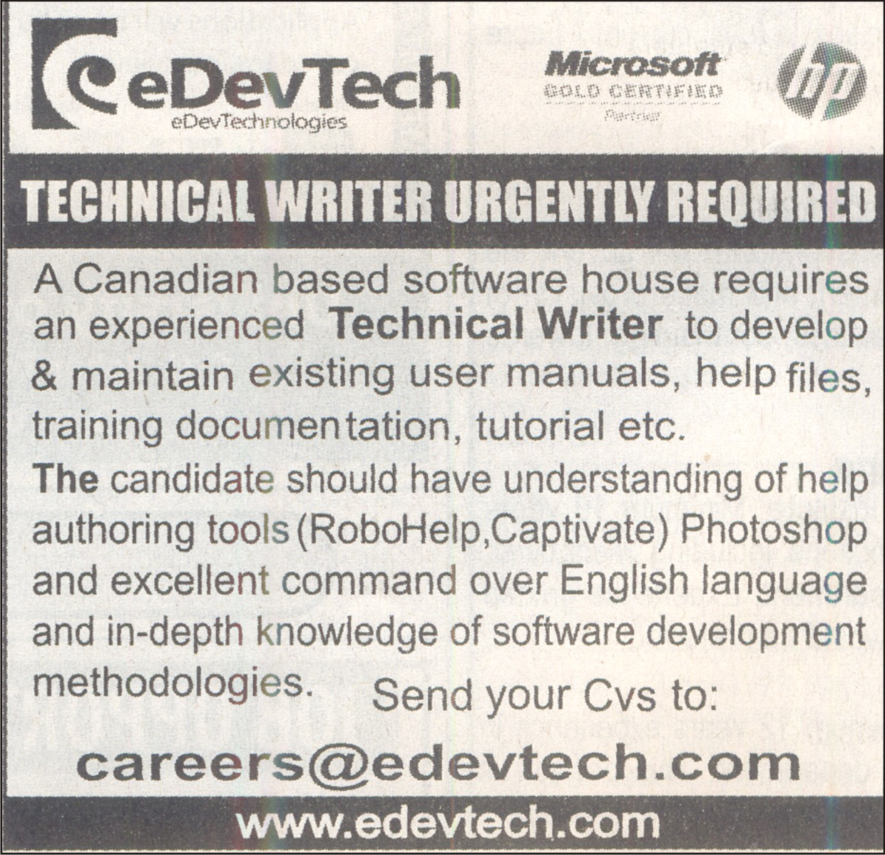 technical writing jobs in canada Search and apply for the leading technical writer job offers in toronto all science - research jobs in one easy search jobisjobca.