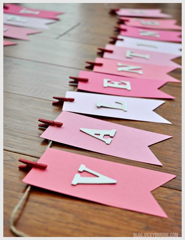Valentine's Day DIY Bunting Garland Vicky Barone