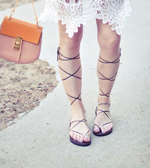 gladiator sandals DIY, no sew DIY