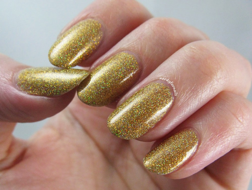 Olry Bling Gold Holo Swatches