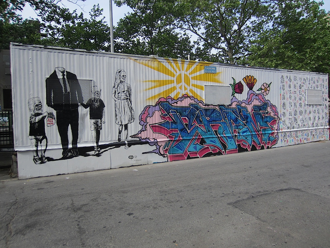 Ev grieve a beastie boys mural before and after on east for Beastie boys mural