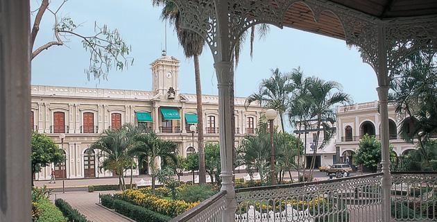 El Palacio de Gobierno en Colima, México