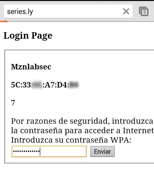 web introducir contraseña