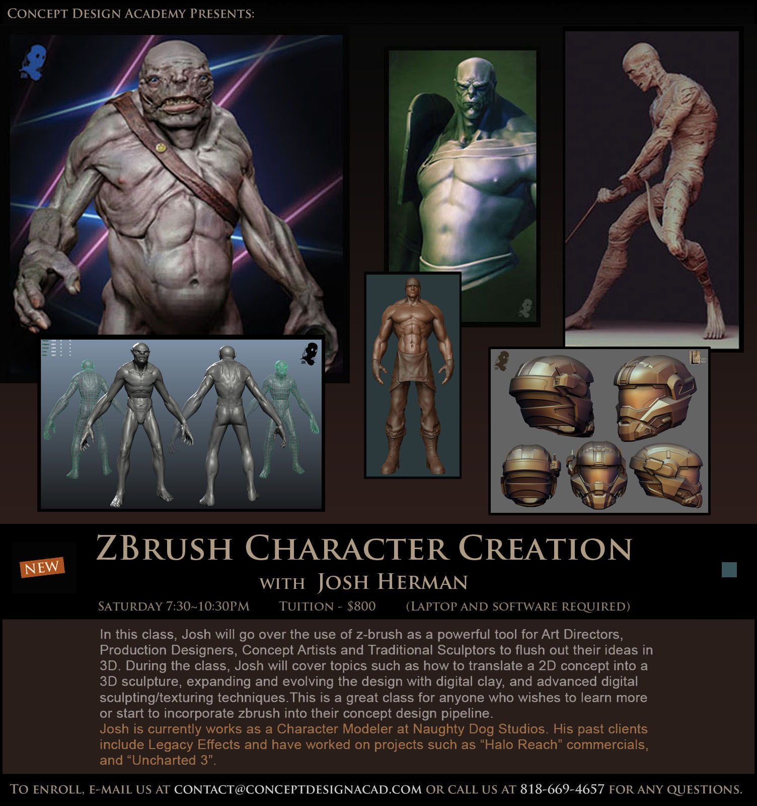 Cmivfx Zbrush Character Concept Design : Concept design academy quot zbrush character creation with