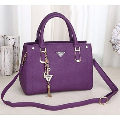 PRADA DESIGNER BAG - PURPLE