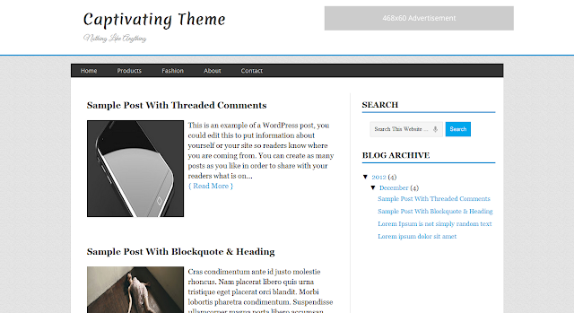 Captivating Blogger Template