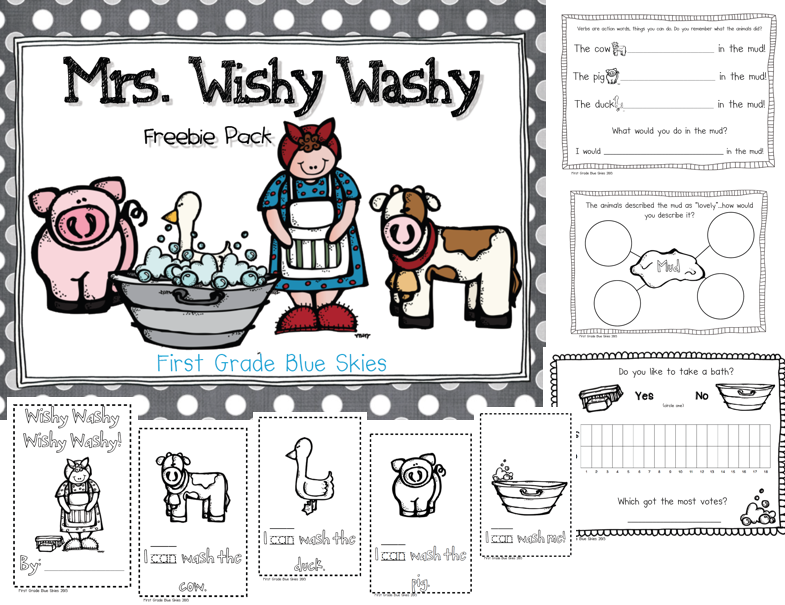 Fill Your Basket Blog Hop First Grade Blue Skies