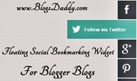 Floating Social Bookmarking Widget With Easing Effect