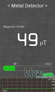 Mendeteksi Logam / Magnet Dengan Android | Metal Detector Android