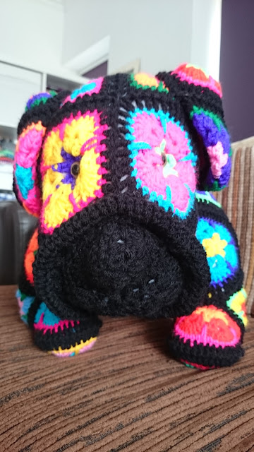 max the african flower bulldog heidi bears heidibears crochet pattern dog wool yarn handmade