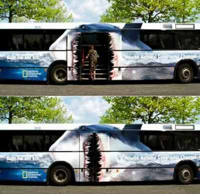 bus optical illusion