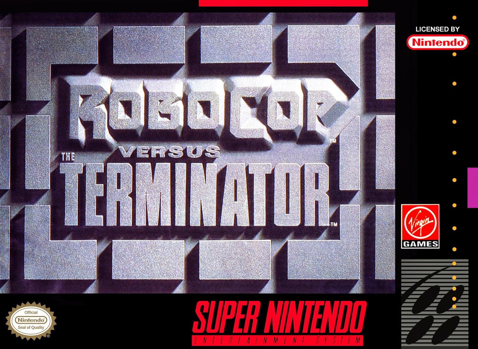 robocop vesus terminator snes cover