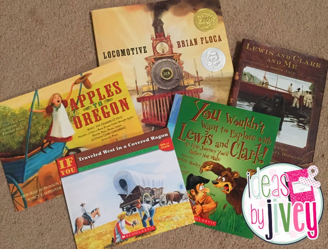 Favorite books in Westward Expansion Unit:with Ideas by Jivey