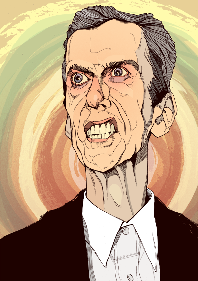 Doctor Who Peter Capaldi drawing