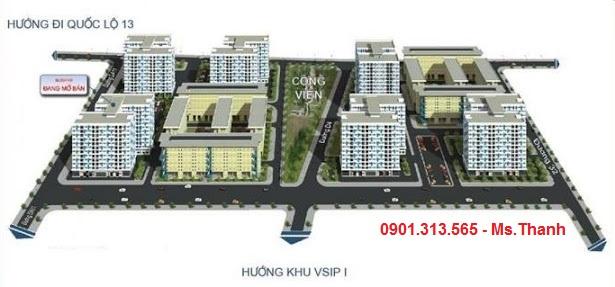 nhà ở an sinh xã hội Becamex khu định cư Việt Sing