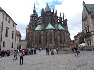 St Vitus Cathedral situated .in Prague Castle complex.
