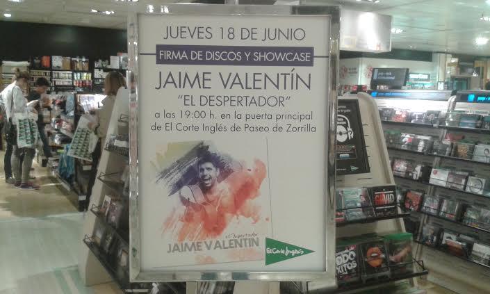 Jaime Valentin en el Corte Ingles