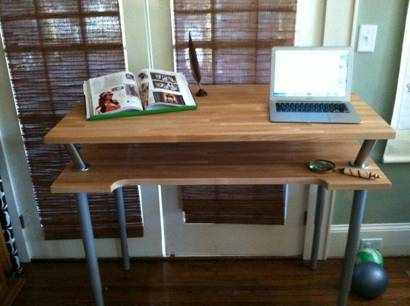 Vika Br D Standing Desk Get Home Decorating