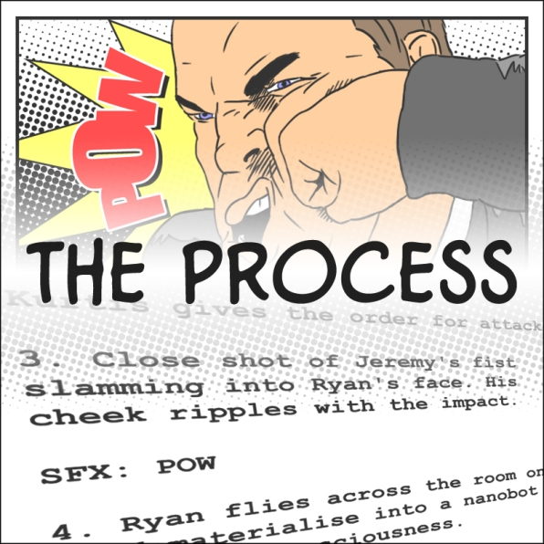 the process - podcast - comic writing