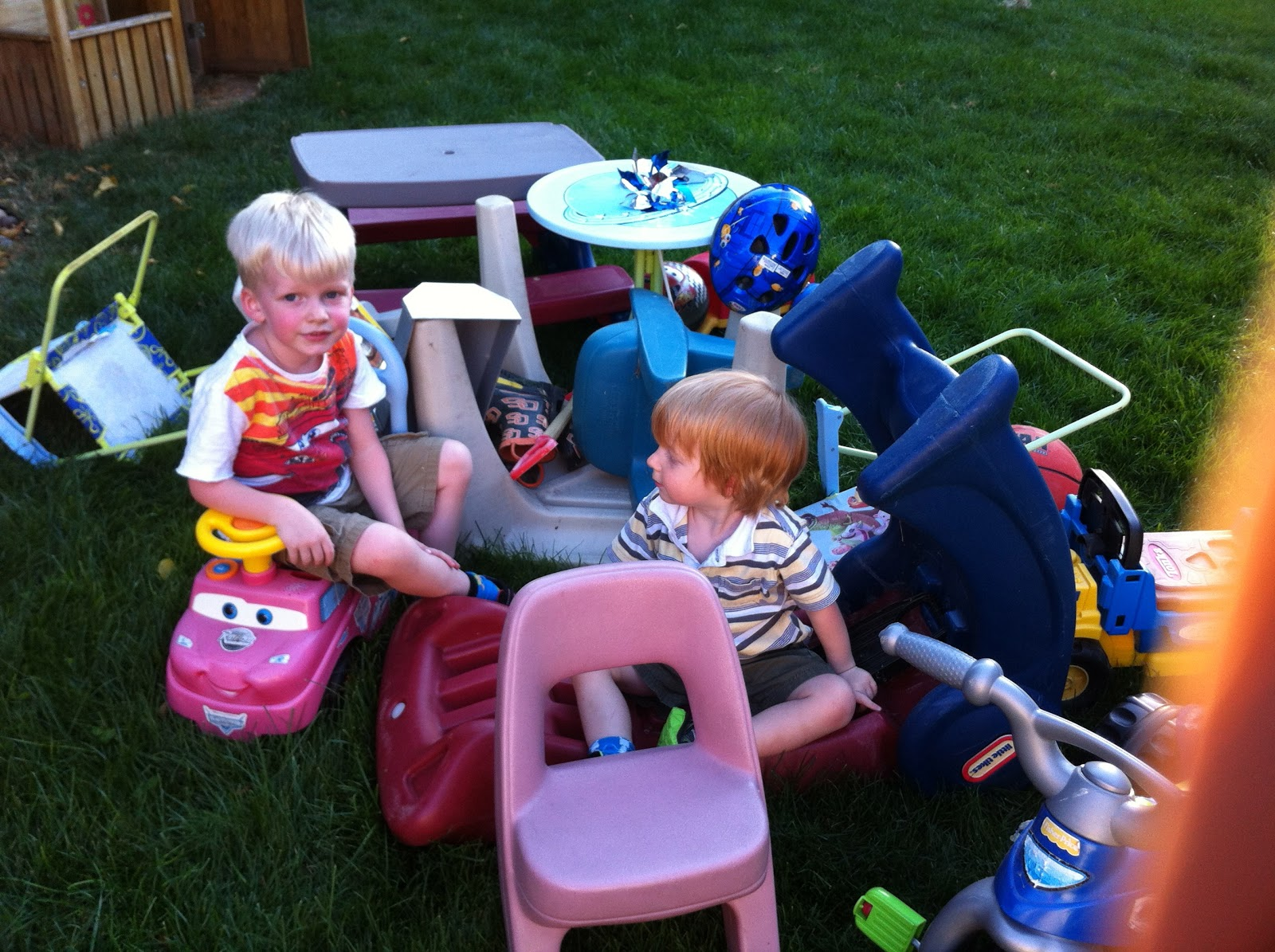 how to write playing with grandchildren