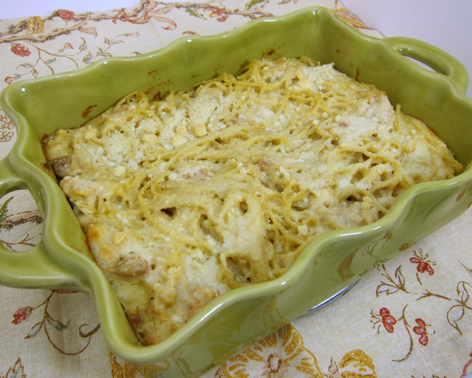 Cheesy Chicken Spaghetti Casserole | Plain Chicken