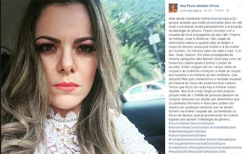 Ana Paula Valadão vira chacota na internet