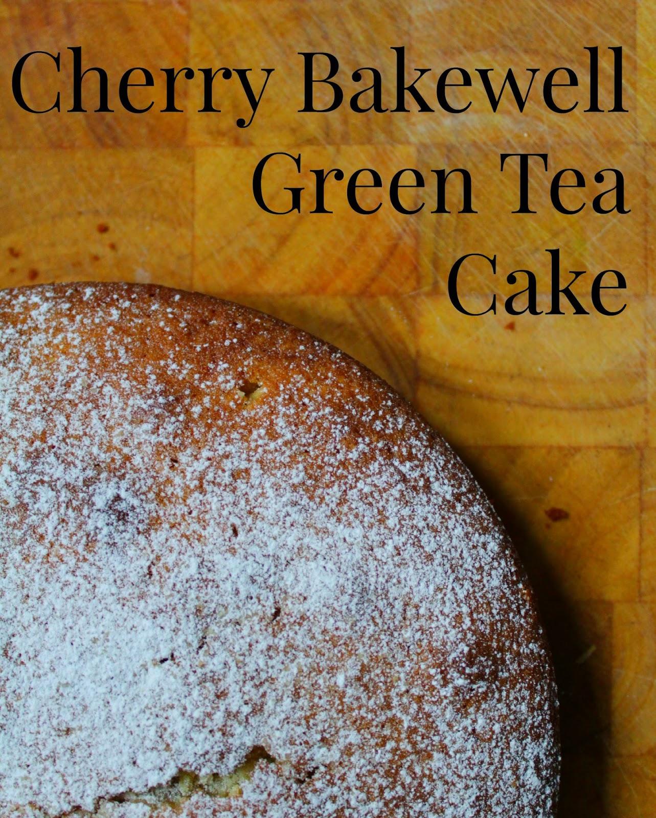 Cherry Bakewell Green Tea Cake