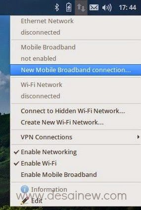 koneksi modem smartfren di linux mobile broadband